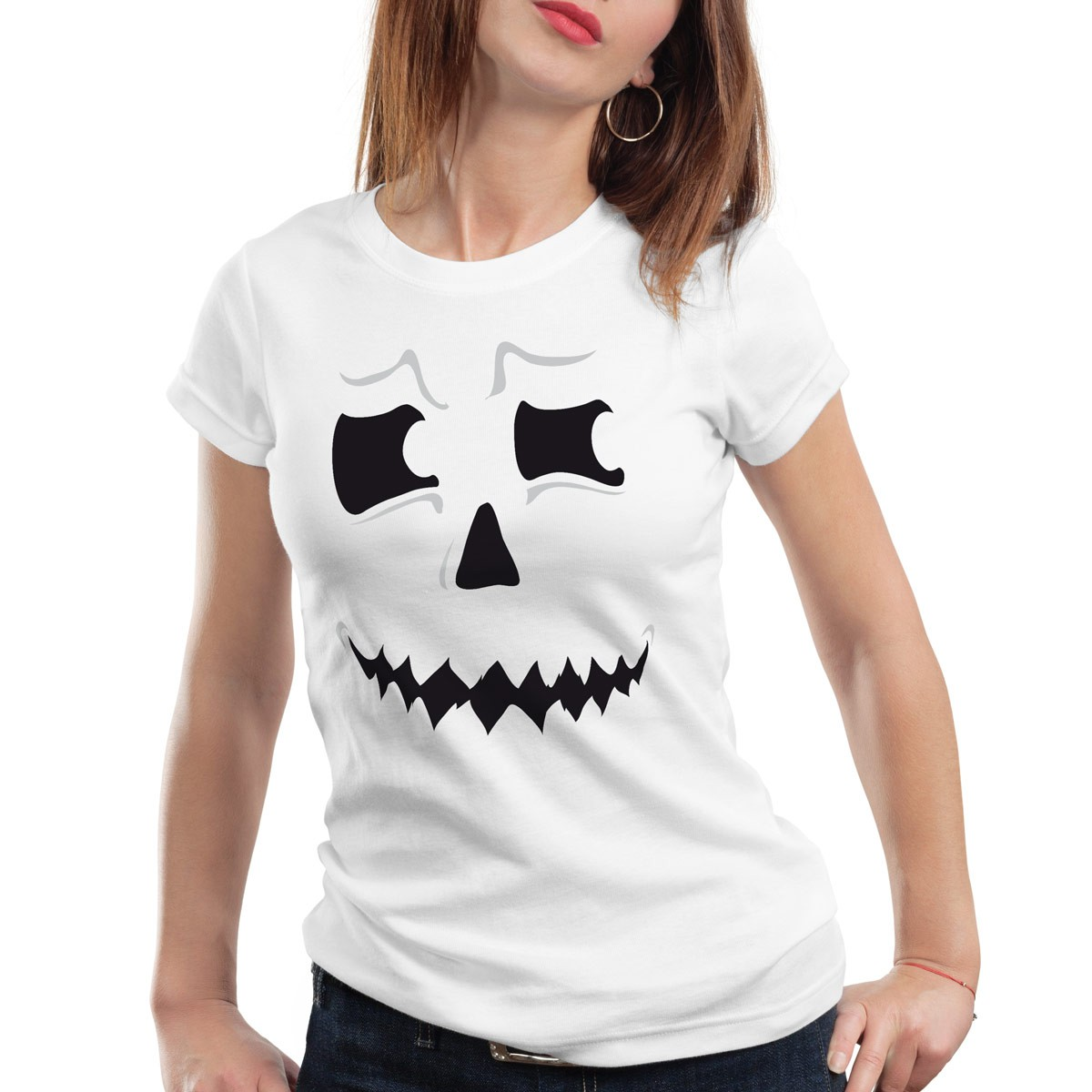 grusel geist halloween damen t shirt fasching kost m. Black Bedroom Furniture Sets. Home Design Ideas