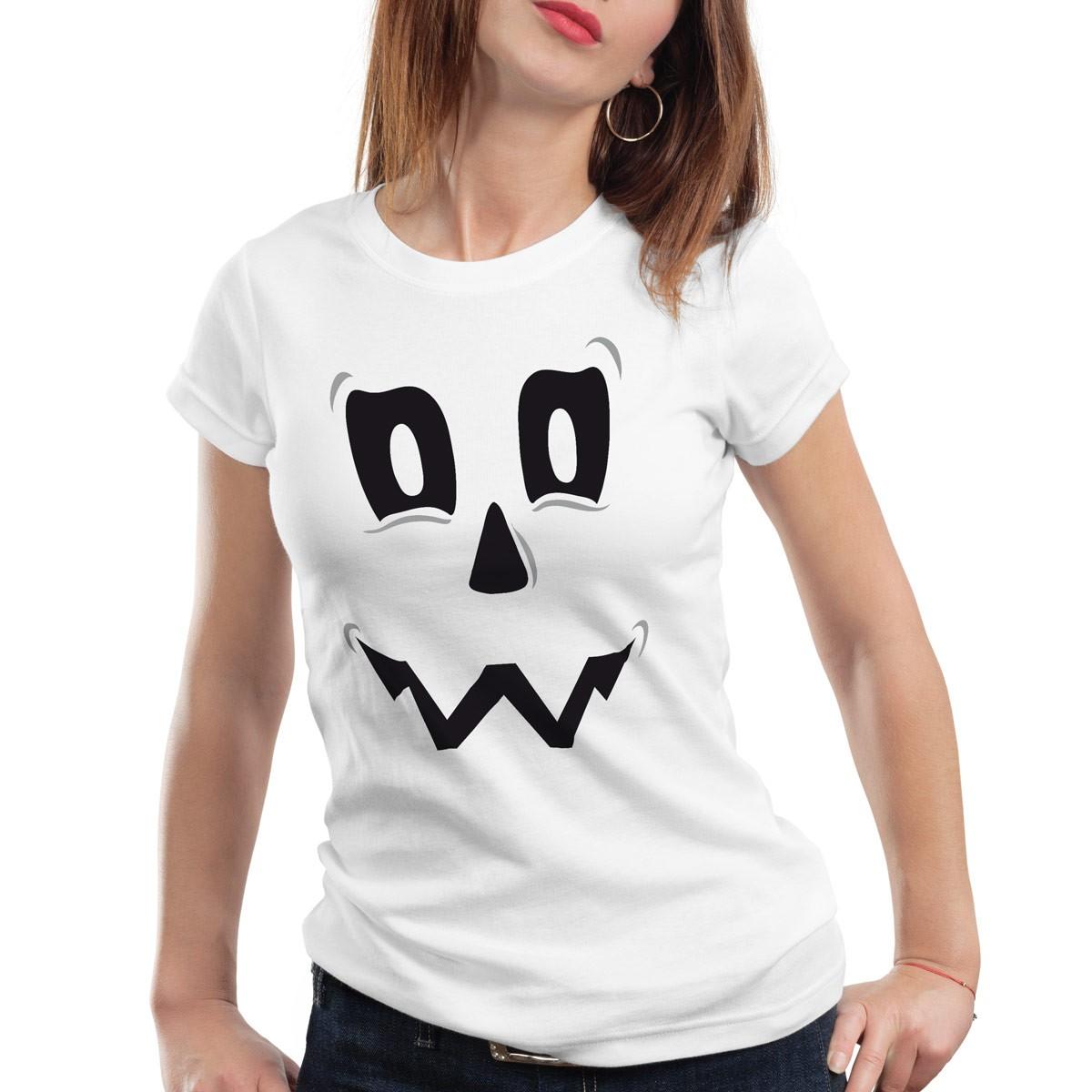 spuk geist halloween damen t shirt fasching kost m k rbis kopf party funshirt ebay. Black Bedroom Furniture Sets. Home Design Ideas