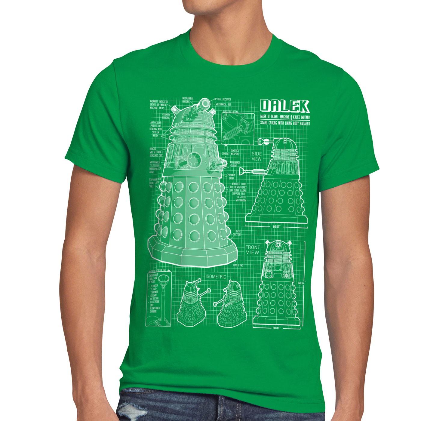 6816f7b621ff2 ... Dalek T-Shirt Hommes OMS Time Police Doctor Box Box Box Space Dr TV  temporel