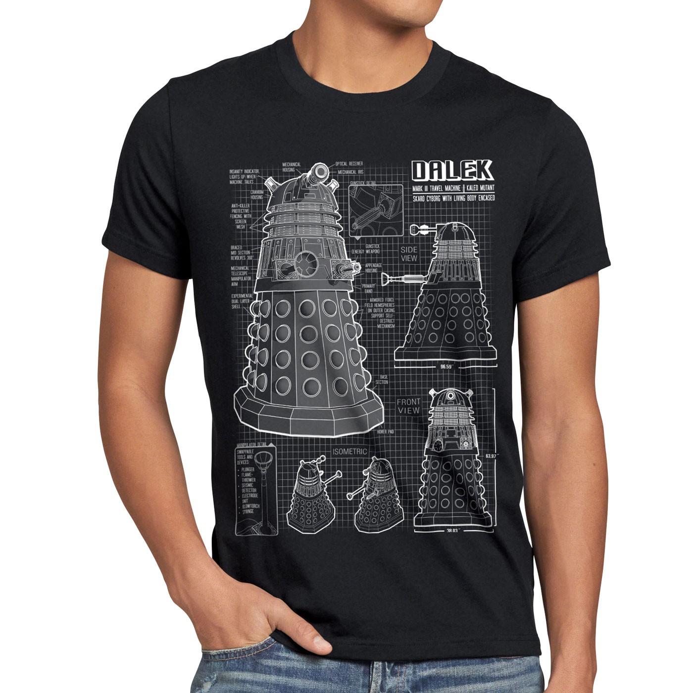 5920f92abe4b3 ... Dalek T-Shirt Hommes OMS Time Police Doctor Box Box Box Space Dr TV  temporel ...