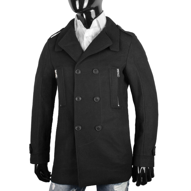 reiher wollmantel herren designer winter mantel kurz jacke. Black Bedroom Furniture Sets. Home Design Ideas