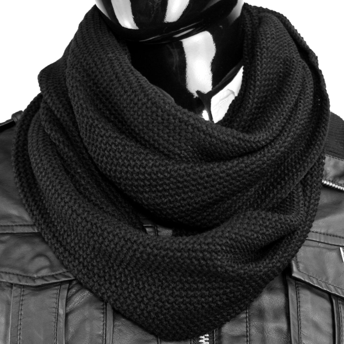 Loop winterschal schal schlauchschal damen herren winter for Schal binden herren