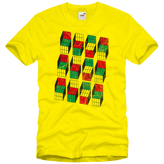 Yellow Opti Blocks T-Shirt