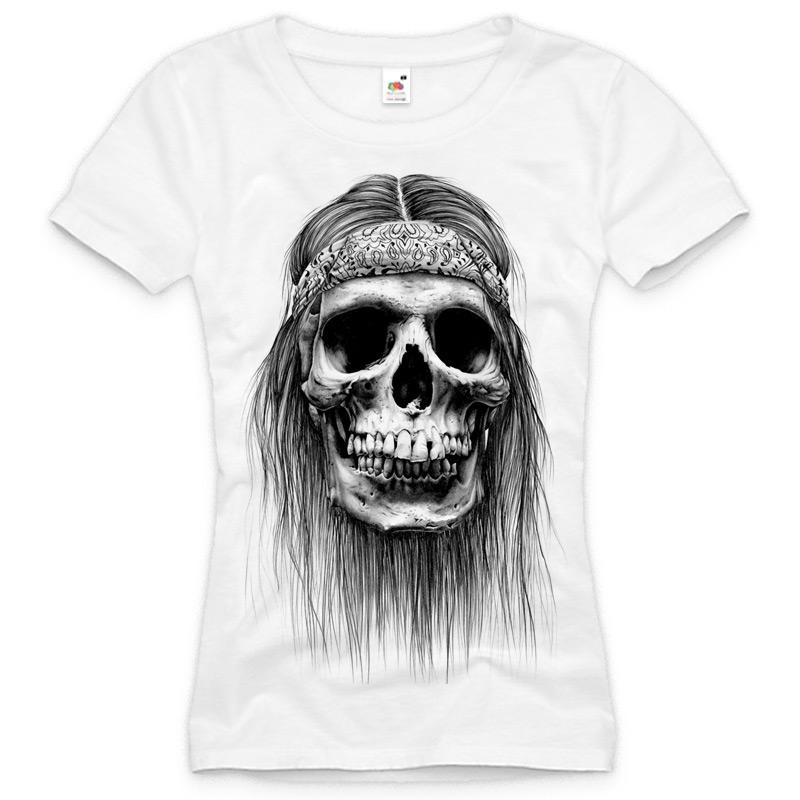Biker T Shirt Damen Skull Totenkopf Tattoo Xs S M L Xl Xxl
