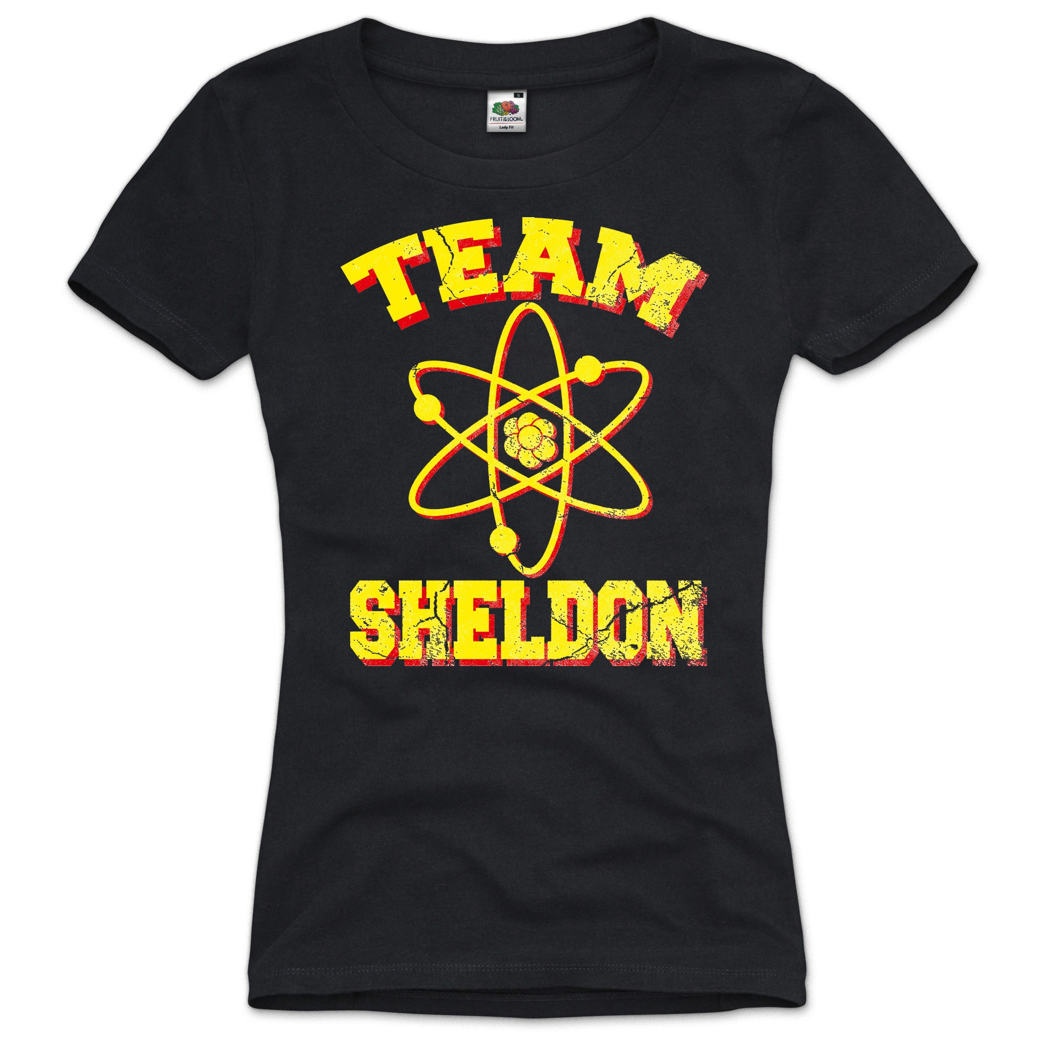 TEAM-SHELDON-The-Big-Bang-Theory-Damen-T-Shirt-Vintage-Cooper-XS-S-M-L-XL-XXL