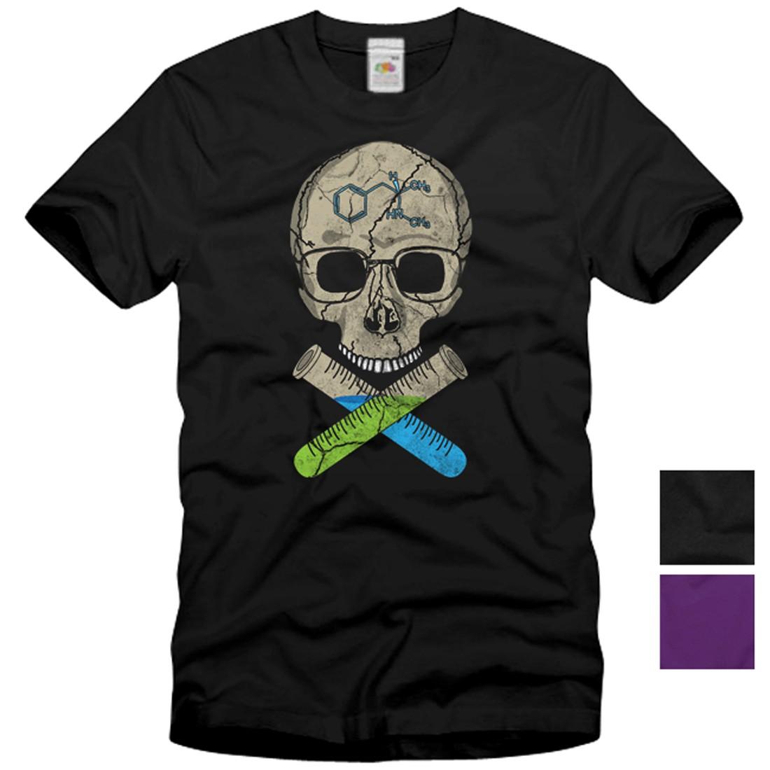 heisenberg totenkopf vintage t shirt herren breaking bad skull serie tv bones ebay. Black Bedroom Furniture Sets. Home Design Ideas
