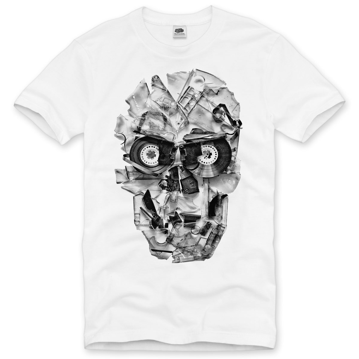 dj skull herren t shirt tape 80er kassette foto tape. Black Bedroom Furniture Sets. Home Design Ideas